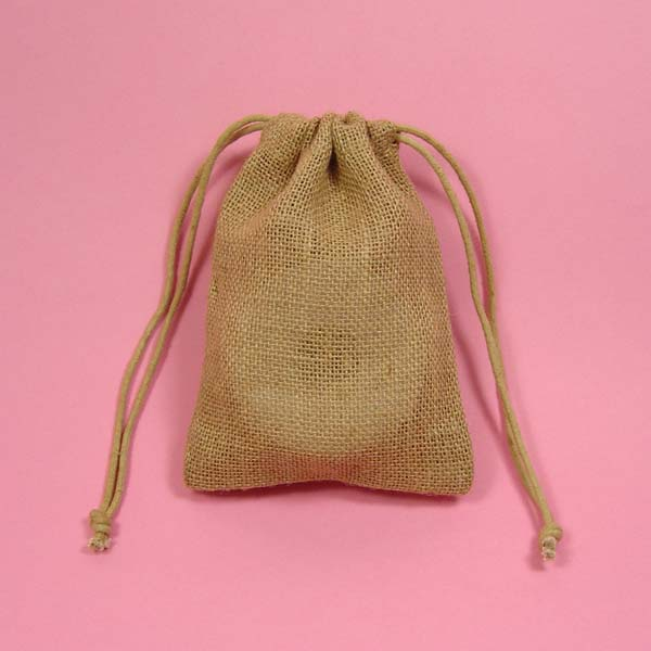 6x10 natural burlap bag-24/pk