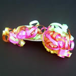 "5"" curly bow on hang tab-24bows/case, NEON"