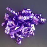 "5"" curly bow on hang tab-24bows/case, PURPLE"