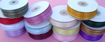 "3/16"" FEATHER EDGE satin ribbon-50yds/roll, WHITE"