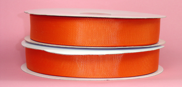"2-1/4"" grosgrain ribbon-50yds/roll, ORANGE"