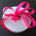 "1/4"" grosgrain ribbon-50yds/roll, SHOCKING PINK"