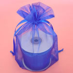 "6.5x15"" organza bag-10/pk, ROYAL BLUE"