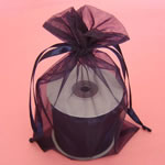 "6.5x15"" organza bag-10/pk, NAVY BLUE"