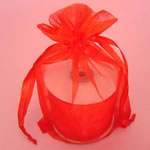 "6.5x15"" organza bag-10/pk, RED"