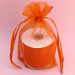 "6.5x15"" organza bag-10/pk, ORANGE"