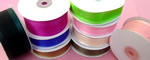"5/8"" SATIN EDGE organza ribbon-25yds/roll, SILVER"