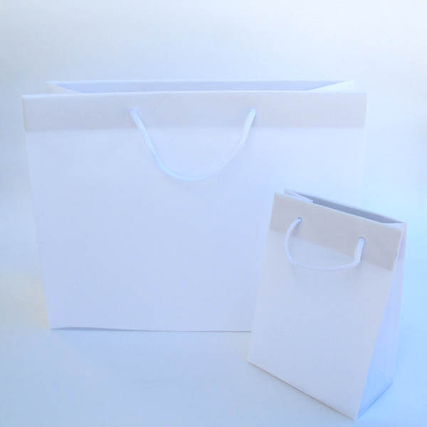 "frosty euro tote w/rope handle 6-1/4""X3-1/2""X8-1/2"" (size C)-25/pk, WHITE"
