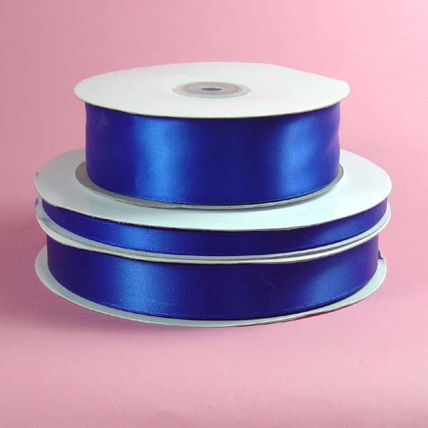 "1/16"" DOUBLE FACED satin ribbon-100yds/roll, ROYAL BLUE"