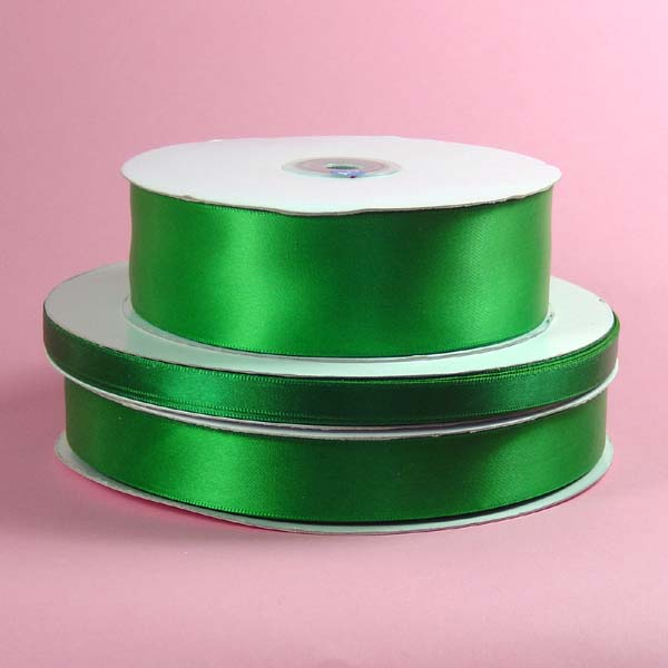 "1/16"" DOUBLE FACED satin ribbon-100yds/roll, EMERALD"