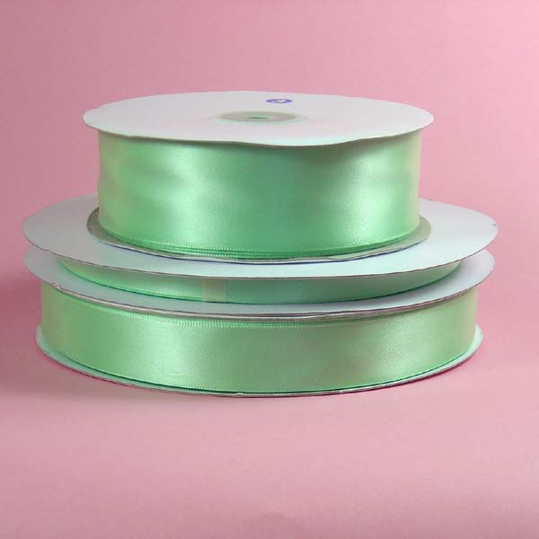 "1/16"" DOUBLE FACED satin ribbon-100yds/roll, MINT"