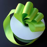 "3"" DOUBLE FACED satin ribbon-50yds/roll, APPLE GREEN"