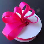 "3"" DOUBLE FACED satin ribbon-50yds/roll, FUCHSIA"