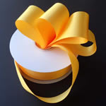 "3"" DOUBLE FACED satin ribbon-50yds/roll, LT GOLD"