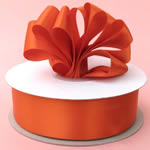 "3"" DOUBLE FACED satin ribbon-50yds/roll, ORANGE"
