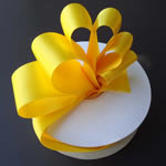 "3"" DOUBLE FACED satin ribbon-50yds/roll, YELLOW"